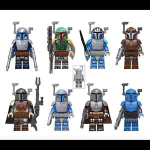 Star Wars Minifigures 8 piece Mandalorian …